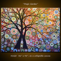 Amy Giacomelli Painting Modern Landscape Magic por AmyGiacomelli