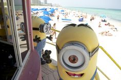 """Minions from Universal Studios' """"Despicable Me Minion Mayhem"""" hit South Beach"""