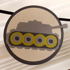 Camo Army HaPPY BiRTHDAY Tank Banner  READY To by APaperPlayground