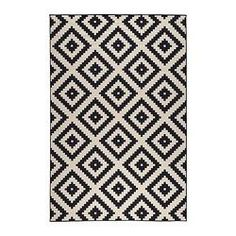 IKEA LAPPLJUNG RUTA Rug, low pile White/black 200 x 300 cm Ideal in your living room or under your dining table since the flat-woven surface makes it easy to pull out the chairs and vacuum. Room Size Rugs, Big Rugs, Large Rugs, Medium Rugs, Affordable Rugs, Cheap Rugs, Modern Rugs, Contemporary Rugs, Rugs In Living Room