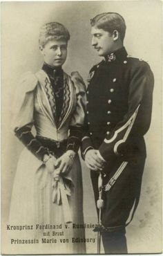 Princess Marie of Edinburgh and her fiancee Crown Prince Ferdinand of Romania Royal Engagement spam Romanian Royal Family, Greek Royal Family, Princess Victoria, Queen Victoria, Michael I Of Romania, Von Hohenzollern, Age Of Empires, Princess Alexandra, Royal Engagement