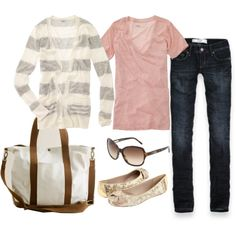 A fashion look from April 2011 featuring Madewell cardigans, Madewell t-shirts and Abercrombie & Fitch jeans. Browse and shop related looks.