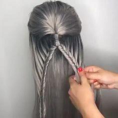 french fishy braid hair tutorial #maneinterest #frenchhair #hairinspiration #hairoftheday #hairdresser #modernsalon #hairtrends #hairstylistlife #hairinspo #hairartist #behindthechair #licensedtocreate #haireducator #styleartists #haireducation #salonlife #frenchbraid #hairdressermagic #hairtutorial