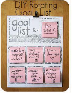Sticky note list