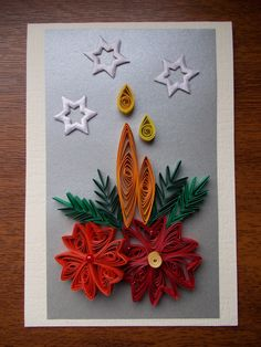 Quilling Paper Craft, Quilling Cards, Paper Crafts, Diy Crafts, Christmas Gift Tags, Xmas, Quilling Christmas, Quilling Techniques, Parchment Craft