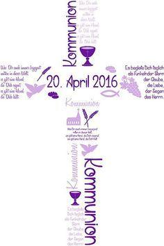 Einladungskarten - ♥ Einladungskarte Kommunion ♥ - ein Designerstück von marion-designisch bei DaWanda