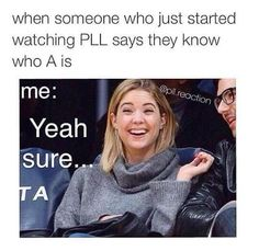 Find images and videos about pretty little liars, pll and ashley benson on We Heart It - the app to get lost in what you love. Pll Quotes, Pll Memes, Funny Quotes, Funny Memes, Preety Little Liars, Pretty Little Liars Quotes, Pll Logic, A Pll, Lectures