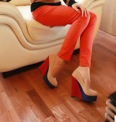 zapatos de moda ewstilo dulce y siemple de color albaricoque