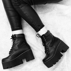 BLVCK CULT Goth Boots, Chunky Boots, Nu Goth, Dark Beauty, Custom Shoes, Grunge Fashion, Tj Maxx, Thrifting, Combat Boots