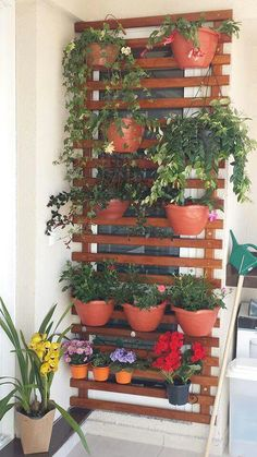 160 Best Vertical Small Space Garden Design With Flower Pots