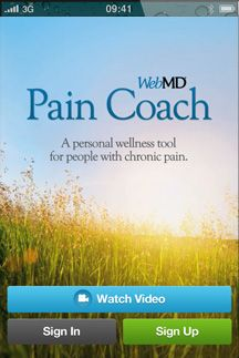 "WebMD Pain App - The ""Pain Coach"" app has info on coping with pain and the treatment of pain - articles, videos, and tips.  It also has the capability to help you chart your pain levels and triggers, and make a pdf file to bring to your doctor appointments.  Read more at http://www.howtocopewithpain.org/blog/4790/app-for-pain-conditions/#8ZjJzOBLhRFeksYQ.99"