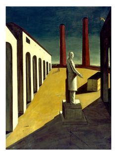 Giorgio de Chirico, The Enigma of a Day, Oil on canvas, The Museum of Modern Art: Painting and Sculpture Tachisme, Oil On Canvas, Canvas Prints, Framed Prints, Painting Canvas, Canvas Artwork, Art Picasso, Modern Art, Contemporary Art