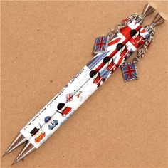 I want to buy white British guards London mechanical pencil with charm Japanese Stationery, Kawaii Stationery, Pencil Design, Cute Pens, Royal Guard, White Pencil, Mechanical Pencils, Terrier Dogs, Cute Designs