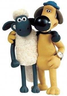 best friends on  Shaun the sheep