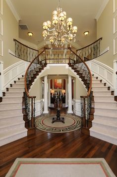 Love the stairs, beautiful hard wood floors as well