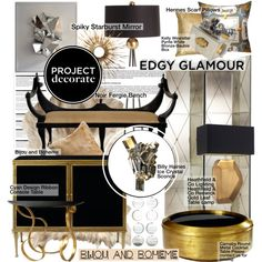 """Project Decorate: Edgy Glamour with Bijou and Boheme"" by pisces7 on Polyvore"