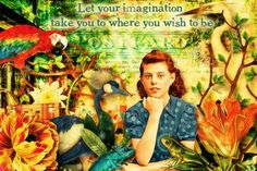 Let Your Imagination © Beth Todd - All Rights Reserved Created with Mile's Beyond The Moon's - 'Margaret Ann's Grand Adventure' @ MischiefCircus.com. A digital image kit for your art, collage, mixed media art and scrapbooking. #photomanipulation #digital #art #scrapbook #collage #artjournaling #atc