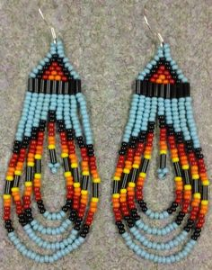 Turquoise Beaded Native American Earrings