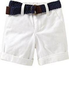 Belted Khaki Shorts for Baby | Old Navy