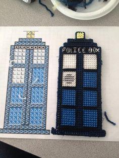 Plastic Canvas TARDIS