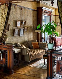 Favorite. Victorian in Bedford-Stuyvesant - Slide Show - NYTimes.com. Great craftsmanship and very authentic look. Love the sofa too.