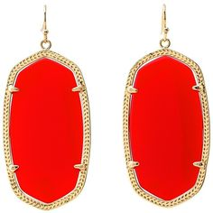Kendra Scott Danielle Earrings (Gold/Bright Red Opaque Glass) Earring (81 SGD) ❤ liked on Polyvore featuring jewelry, earrings, earrings jewelry, 14 karat gold earrings, gold jewellery, 14k gold jewelry and gold jewelry