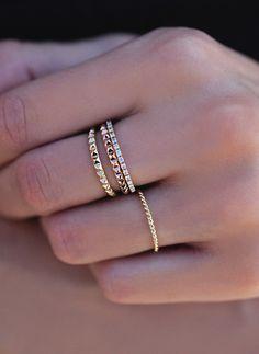 14kt gold pyramid ring – Luna Skye by Samantha Conn