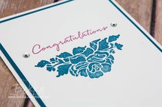 Stampin' Up! UK Feeling Crafty - Bekka Prideaux Stampin' Up! UK Independent Demonstrator: Make in a Moment Monday - Congratulations Card Made Using Floral Phrases by Stampin' Up! UK