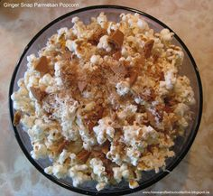 Ginger Snap Parmesan Popcorn