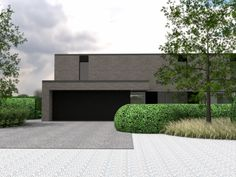 Project VH Dufffel - Verde Tuinarchitectuur - Projecten op maat Forest House, Modern Gardens, Design Inspiration, Backyard, Exterior, House Design, Landscape, House Styles, Outdoor Decor