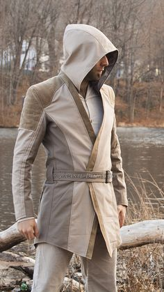 The Apprentice Hooded Jacket - Volante Design Badass Jackets and Coats Jedi Cosplay, Jedi Costume, Jedi Outfit, Concept Clothing, Star Wars Outfits, Adventure Outfit, Templer, Star Wars Costumes, Star Wars Images