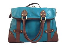 Samantha - Genuine Italian #Leather #Handbag Backpack - Turquoise. #Fashion gvgbags.com
