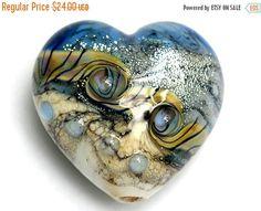 ON SALE 35% OFF Sweet Blue Stardust Heart Large  Handmade