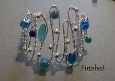 DIY Wire & Bead Bracelet Love it! Must try!