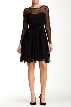Mesh Lined Flare Dress by Eva Franco on @nordstrom_rack