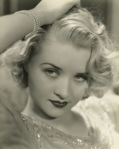 Marian Marsh, early 1930s. Hair and make-up inspiration to the max! not looking at camera common for 1930s models
