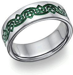 Celtic Heart Love Knot Wedding Band