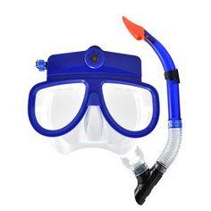 Masque de plongée caméra  Prix : 69 € La preuve de vos exploits aquatique par  la vidéo…Grace à ce masque de  plongée révolutionnaire !