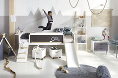 The limited edition bed 'Play, Learn & Sleep' combines everything that is important to LIFETIME: room to play and learn as well as the perfect set-up for restful sleep.
