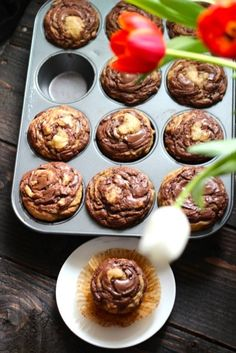 Banana Nutella Swirl Muffins - @Alaska Madden Madden from Scratch