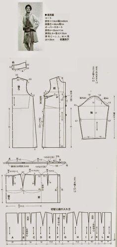 modelist kitapları: coats (Chinese method of pattern making)