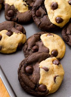 Chocolate and Peanut Butter Swirl Cookies - HowToInstructions.Us