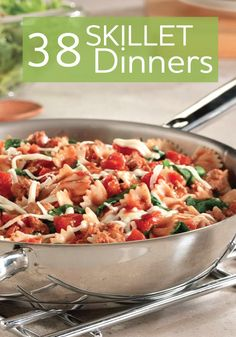 Skillet dinners are so easy...not to mention the clean up is easy!