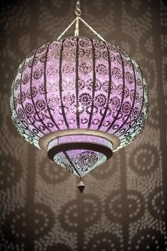 Moroccan pireced metal lamp