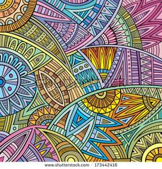 Abstract vector tribal ethnic background pattern by balabolka, via Shutterstock