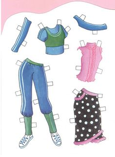 sussy free paper dolls and paintings too Arielle Gabriel's International Paper Doll Society
