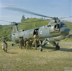 """bmashina: """"The helicopter from Bristol Belvedere of 66 squadron RAF during the operations in East Malaysia (island of Borneo); ~ 1960-ies. """""""