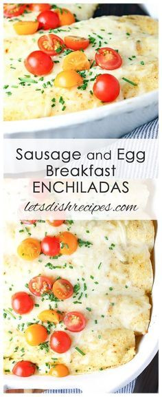 Sausage and Egg Breakfast Enchiladas Recipe: Stuffed with scrambled eggs, sausage and cheese, these breakfast enchiladas are a morning twist on a classic Mexican meal. recipes Sausage and Egg Breakfast Enchiladas Sausage Breakfast, Breakfast For Dinner, Breakfast Casserole, Mexican Casserole, Egg Casserole, Breakfast Healthy, Breakfast Ideas With Eggs, Casserole Ideas, Healthy Egg Breakfast