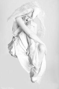 White fashion editorial, urban bride, dancer