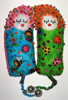 Dotee dolls found at magicjesnrach Flickr site - Dotee dolls are mixed media art dolls which are made to be swapped